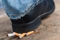 Man refuses to smoking Royalty Free Stock Photo