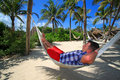 Man relaxing in a hammock Royalty Free Stock Photography
