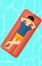 Man relaxing in swimming pool. Royalty Free Stock Photo