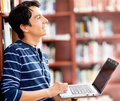Man researching at the library Royalty Free Stock Photography