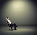 Man resting on the chair