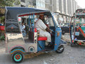 Man in rickshaw Stock Photos