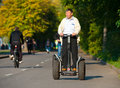 Man rides Segway Royalty Free Stock Images