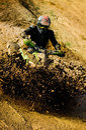 Man riding ATV . Royalty Free Stock Image