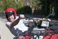 Man riding an ATV Royalty Free Stock Photo