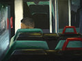 Man Riding The Bus - Digital Painting Royalty Free Stock Photos