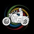 A man riding motorbike