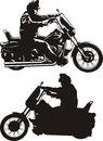Man riding a motorcycle easy rider on bike Stock Photography