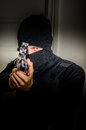 Man with a rifle assault Stock Photo