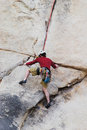 Man rock climbing Royalty Free Stock Photography