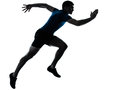Man runner running sprinter sprinting Stock Photo