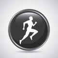 Man running icon. Sport design. Vector graphic