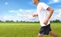 Man running on outdoors Royalty Free Stock Photo