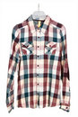 Man's cotton plaid shirt Royalty Free Stock Photos
