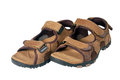 Man s sandals on a white background Royalty Free Stock Photo