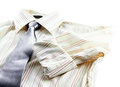 Man s shirt and tie isolated on white background Royalty Free Stock Images