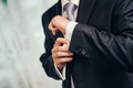 Man's style. dressing suit, shirt and necktie Royalty Free Stock Photo