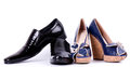 Man's and womanish shoes Stock Image