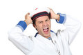 Man in a sailor costume Stock Image