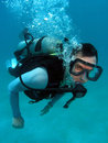 Man Scuba Diving Royalty Free Stock Photo