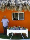 Man selling souvenirs in Belize, Caribbean Royalty Free Stock Photo