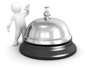 Man and service bell image with clipping path Stock Photography