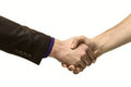 Man shaking hands Stock Photo