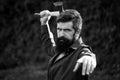 Man with sharp axe Royalty Free Stock Photo