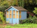 Man shed Royalty Free Stock Photo