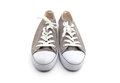Man shoes khaki isolated on a white background Royalty Free Stock Photos