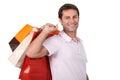 Muž nakupovanie tašky