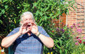 Man shouting. Royalty Free Stock Photo