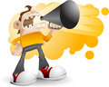 A man shouting loudly Royalty Free Stock Images