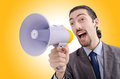 Man shouting and yelling Royalty Free Stock Photo