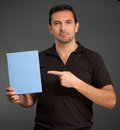 Man showing a box Royalty Free Stock Photos