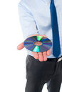 Man showing compact disc, cropped image Royalty Free Stock Photo