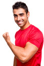 Man showing his great shape during exercise Royalty Free Stock Images