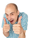 Man showing his thumb up Royalty Free Stock Images