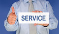 Man showing service sign Royalty Free Stock Photos