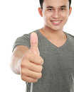 Man showing thumbs up sign Stock Images