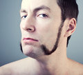 Man with sideburns Stock Photo