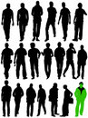 Man silhouettes in moving Stock Images