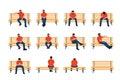 Man sit on bench 01 Royalty Free Stock Photo