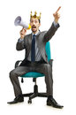 Man sitting on the chair Stock Image