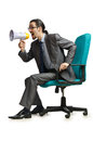 Man sitting on the chair Stock Images
