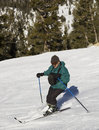 Man skiing at Lake Tahoe Resor Royalty Free Stock Photos