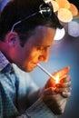 Man smoking cigarette Royalty Free Stock Photos