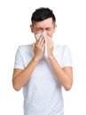 Man sneeze Royalty Free Stock Photo