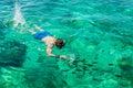 Man snorkeling at Phi Phi Island, Phuket, Thailand Royalty Free Stock Photo