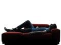 Man sofa coach  lying sleeping Royalty Free Stock Photo